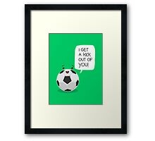 Tough Love! Framed Print