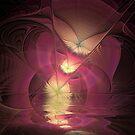 Pink Waves Of Emotion by Deborah  Benoit