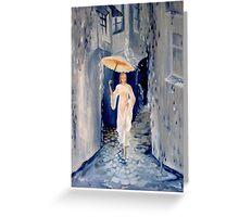 Torrential rain Greeting Card