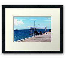 Boat at Dock Framed Print