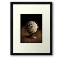 Moon Globe Still Life Framed Print