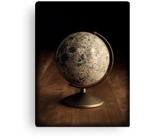 Moon Globe Still Life Canvas Print