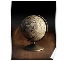 Moon Globe Still Life Poster