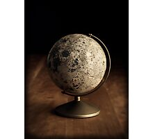 Moon Globe Still Life Photographic Print