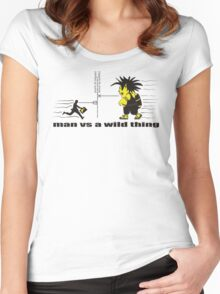 man vs a wild thing Women's Fitted Scoop T-Shirt