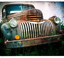 Old Rusty Chevy Truck by Edward Fielding