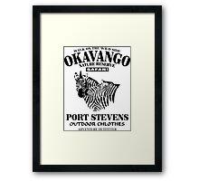 Okavango Zebras Framed Print