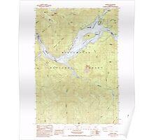 USGS Topo Map Oregon Detroit 279620 1985 24000 Poster