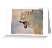 Anger display Greeting Card