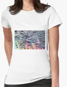 Retro Bubbles Womens Fitted T-Shirt