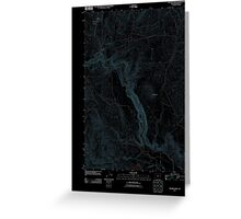USGS Topo Map Oregon Becker Creek 20110831 TM Inverted Greeting Card
