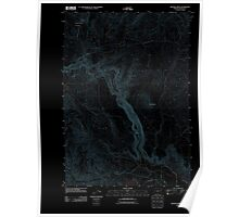 USGS Topo Map Oregon Becker Creek 20110831 TM Inverted Poster