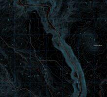 USGS Topo Map Oregon Becker Creek 20110831 TM Inverted Sticker