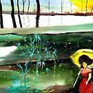 Woman in Red by Anil Nene