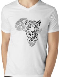 Leopard - Africa Map Mens V-Neck T-Shirt