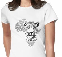Leopard - Africa Map Womens Fitted T-Shirt