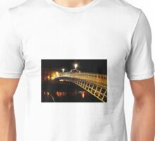 Ha'Penny Bridge At Night Unisex T-Shirt
