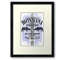 Botswana Rhino Safari Framed Print