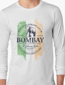 Bombay Elephant Club - India vintage flag Long Sleeve T-Shirt