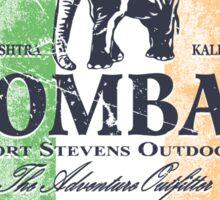 Bombay Elephant Club - India vintage flag Sticker
