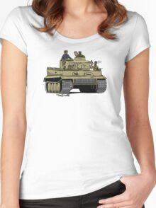 Dogs of War, Tiger 1 Women's Fitted Scoop T-Shirt