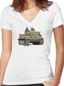 Dogs of War, Tiger 1 Women's Fitted V-Neck T-Shirt