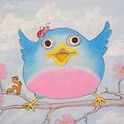 Bluebird and friends 4 - Happy themed critter friends grouping intended for a childs room by TedReeder