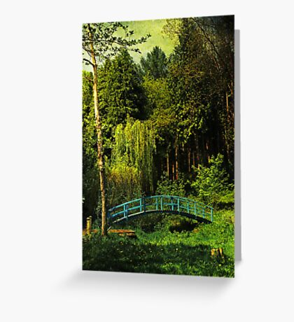 The Blue bridge, Prescoed, Wales Greeting Card