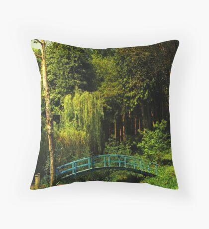 The Blue bridge, Prescoed, Wales Throw Pillow