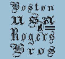 usa boston, ma tshirt by rogers bros by tron2010