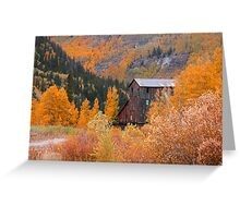 Old mill in Colorado Greeting Card