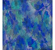 Painterly Midnight Floral Abstract Photographic Print
