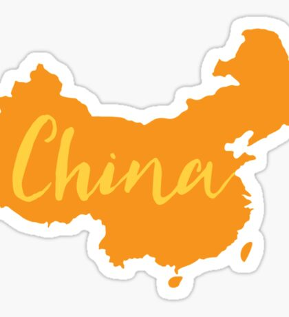 China (fancy) with country map Sticker