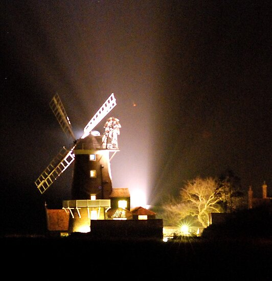Cley Windmill at night 2011 by stephen denton
