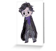Sherlock Chibi Greeting Card