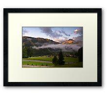 Dawn at Podkoren looking to Srendja Ponca, Slovenia Framed Print