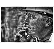 Enjoying A Smoke After Work  Poster