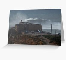 XXL Wave Nazare Portugal Greeting Card