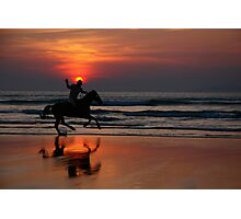 gallop at sunset Photographic Print