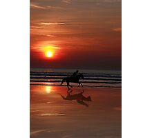 galloping shadow racing Photographic Print