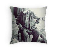 A man in Safranbolu. Throw Pillow