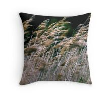 Reeds At Salthouse Marsh Throw Pillow