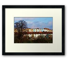 Coloured Houses Framed Print