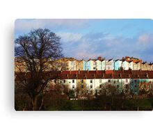 Coloured Houses Canvas Print