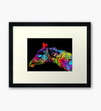 Watercolor Giraffe Framed Print