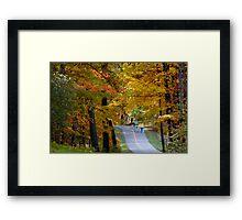 Autumn bike trail Framed Print