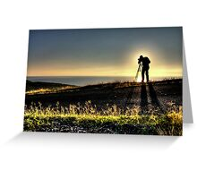 A Photographer's Silhouette Greeting Card