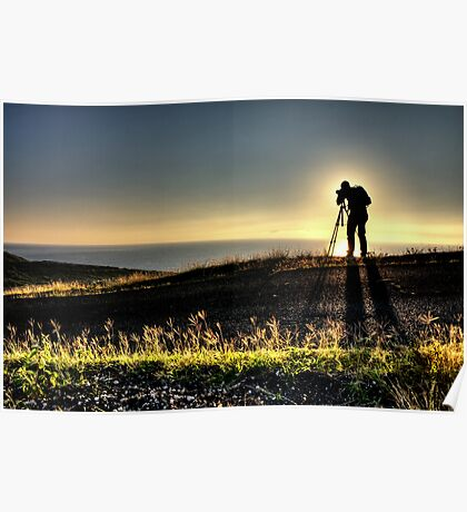 A Photographer's Silhouette Poster