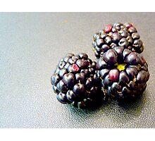 Colourful blackberries Photographic Print