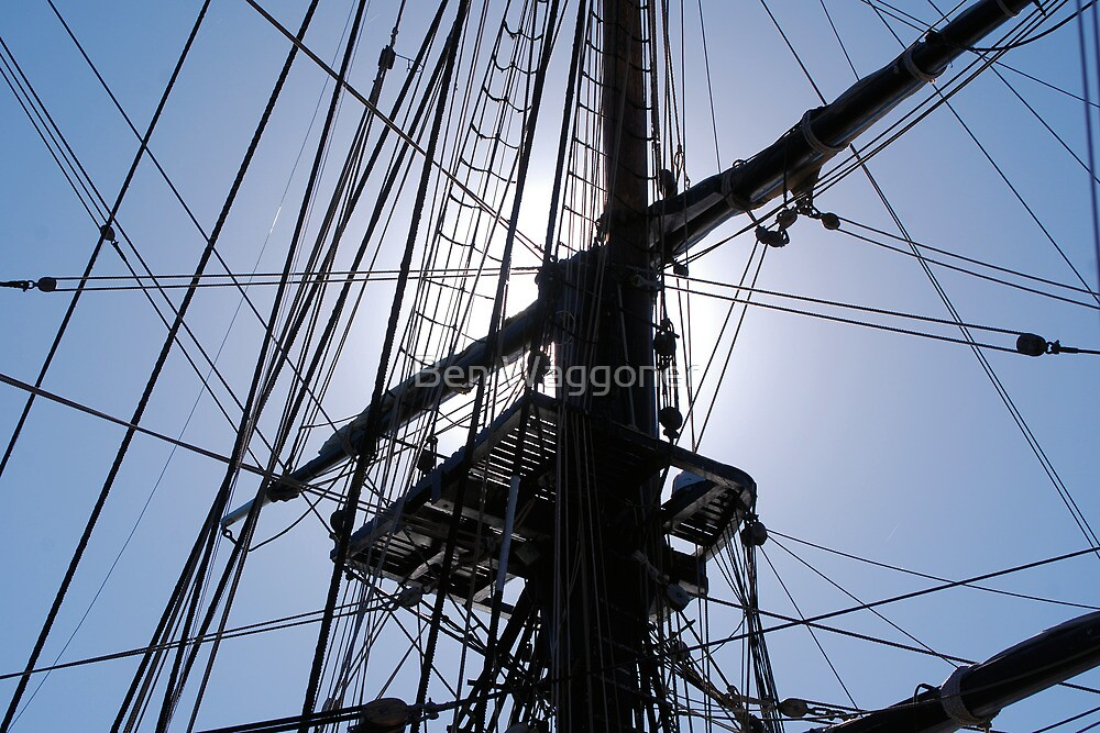 HMS Bounty tall ship rigging by Ben Waggoner